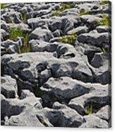 Limestone In The Burren Acrylic Print