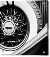 Lincoln Spare Tire Emblem Acrylic Print by Jill Reger