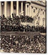 Lincoln's Inauguration, 1865 Acrylic Print