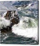 Linda Mar Beach Surf Acrylic Print
