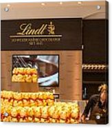 Lindt Chocolate Boutique In Vienna - Austria Acrylic Print