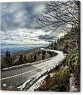 Linn Cove Viaduct During Winter Near Blowing Rock Nc Acrylic Print