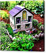 Little Garden Farmhouse Acrylic Print