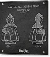 Little Red Riding Hood Patent Drawing From 1943 Acrylic Print