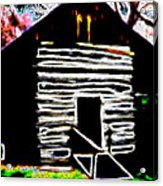 Log Cabin Home Acrylic Print
