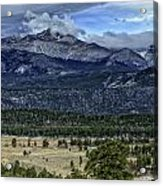 Long's Peak Acrylic Print by Tom Wilbert