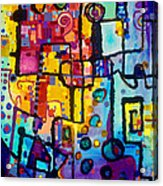 Lost Papers And Urban Plans Acrylic Print