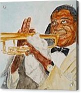Louis Armstrong 2 Acrylic Print by Katie Spicuzza