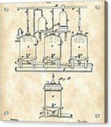 Louis Pasteur Beer Brewing Patent 1873 - Vintage Acrylic Print