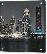 Night Lights Of Louisville Acrylic Print
