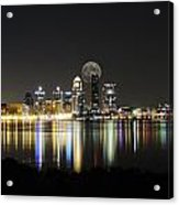 Louisville With The Moon Acrylic Print