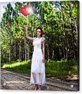 Love Heart Balloons  Acrylic Print