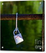 Love Padlock Acrylic Print by Victoria Herrera