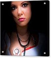 Love Struck Stethoscope Nurse Acrylic Print