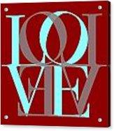 Love Typography Acrylic Print