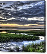 Cloud Reflections Over The Marsh Acrylic Print