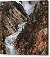 Lower Falls Of The Yellowstone Acrylic Print