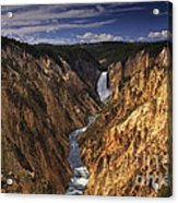 Lower Yellowstone Falls II Acrylic Print