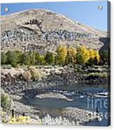 744p Lucky Peak Dam Sandy Point Id Acrylic Print