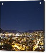 Lugano By Night Acrylic Print