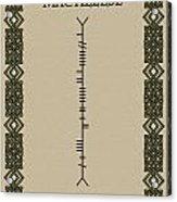 Macaleese Written In Ogham Acrylic Print