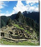 Machu Picchu Panorama Acrylic Print