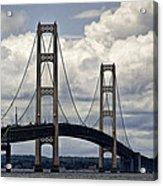 Mackinaw Bridge By The Straits Of Mackinac Acrylic Print