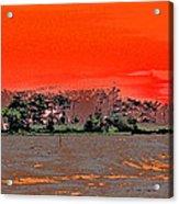 Louisiana Sunset Of The Madisonville Lighthouse  Acrylic Print