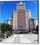Madrid Building Acrylic Print