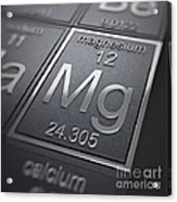 Magnesium Chemical Element Acrylic Print