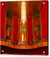 Main Lobby Radio City Music Hall Acrylic Print