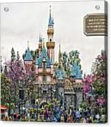 Main Street Sleeping Beauty Castle Disneyland 01 Acrylic Print