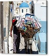 Man And His Pack Mule Acrylic Print