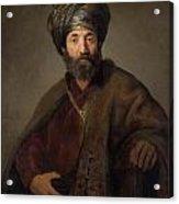 Man In Oriental Costume Acrylic Print