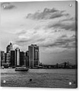 Manhattan Skyline Right Triptych Acrylic Print