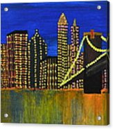 Manhattan Skyline Acrylic Print by Shruti Prasad