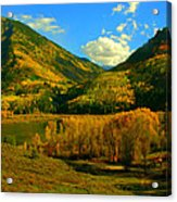 Marble Valley Acrylic Print