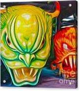 Mardi Gras Devils Acrylic Print by Gregory Dyer