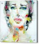 Maria Callas - Watercolor Portrait.2 Acrylic Print