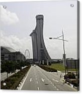 Marina Bay Sands And Singapore Flyer As Seen From A Distance Acrylic Print