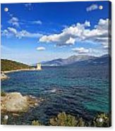 Martello Tower Near St Florent In Corsica Acrylic Print
