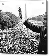 Martin Luther King The Great March On Washington Lincoln Memorial August 28 1963-2014 Acrylic Print