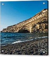 Matala Beach Acrylic Print