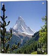Matterhorn In Zermatt Acrylic Print