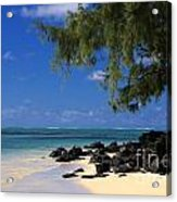 Mauritius Blue Sea Acrylic Print