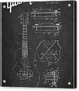 Mccarty Gibson Stringed Instrument Patent Drawing From 1969 - Dark Acrylic Print
