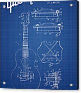 Mccarty Gibson Stringed Instrument Patent Drawing From 1969 - Bl Acrylic Print