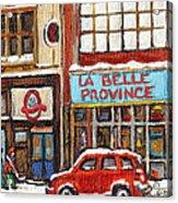 Mcleans Irish Pub Montreal Acrylic Print