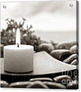 Meditation Candle Acrylic Print