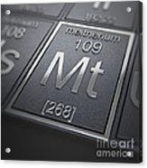 Meitnerium Chemical Element Acrylic Print
